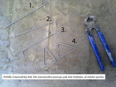 Jak si vyrobit sponky na fixování kachlů