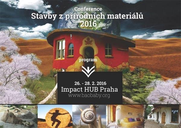 Konference - Stavby z přírodních materiálů Praha 2016